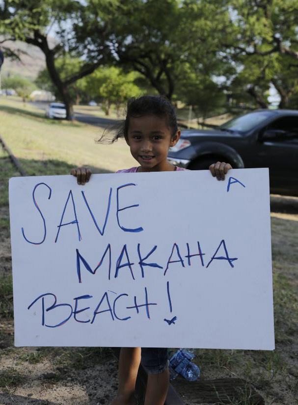 Malama Makaha Sign Waving